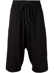 Public School Drawstring Loose Fit Shorts Black