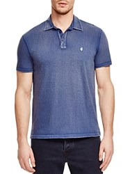 John Varvatos Peace Slub Knit Slim Fit Polo Shirt Blue