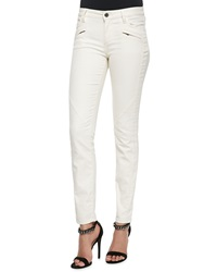 Belstaff Zip Pocket Skinny Jeans White