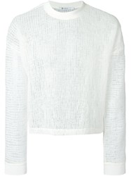 Alexander Wang Sheer Sweater White