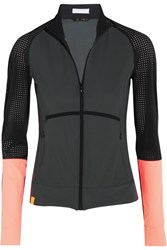 Monreal London Perforated Stretch Jersey Jacket Charcoal