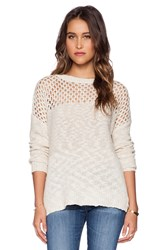 L'agence Crochet Pullover Beige