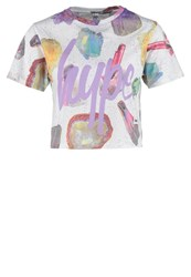 Hype Speckle Print Tshirt Multi Off White