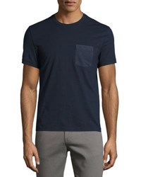 Original Penguin Printed Pocket Cotton Tee Blue
