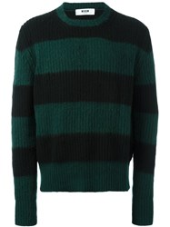 Msgm Striped Jumper Green
