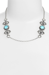 Konstantino 'Aegean' Station Necklace Silver Turquoise