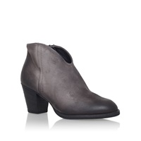 Paul Green Kate Mid Block Heel Ankle Boots Light Grey
