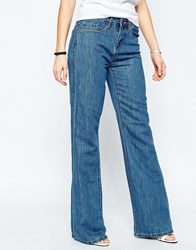 Blank Nyc Someone Elsie Flares In Mid Wash Blue