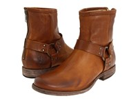 Frye Phillip Harness Cognac Soft Vintage Leather Women's Pull On Boots Brown