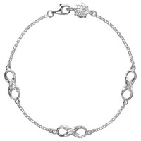Dower And Hall Sterling Silver Triple Infinity Bracelet Silver