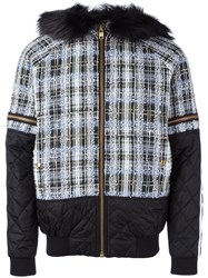 Astrid Andersen Checked Hooded Jacket Blue
