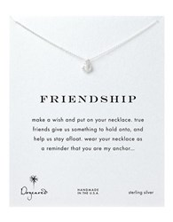 Dogeared Anchor Charm Necklace Silver