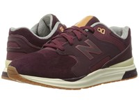 New Balance Ml1550 Burgundy Suede Men's Classic Shoes