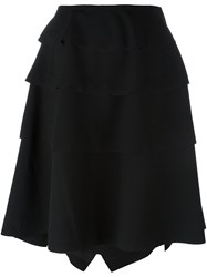 Comme Des Garcons Structured Midi Skirt Black