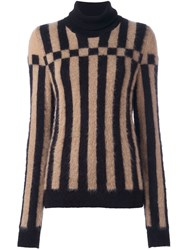 Loewe Striped Turtleneck Jumper Black