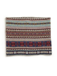 Ralph Lauren Girl's Fair Isle Cotton And Merino Snood Grey Multi