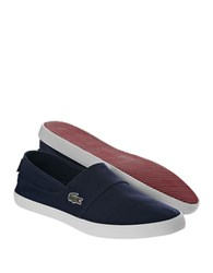 Lacoste Marice Lcr Canvas Slip On Shoes Navy