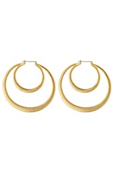 Kenneth Jay Lane Gold Plated Hoop Earrings Gr. One Size