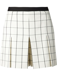 Proenza Schouler Checked Skirted Shorts White