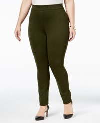 Styleandco. Style Co. Plus Size Seamed Leggings Only At Macy's Evening Olive