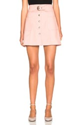 Red Valentino Belted Mini Skirt In Pink