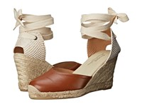Soludos Tall Wedge Leather Tan Women's Wedge Shoes