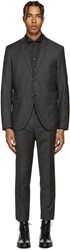 Tiger Of Sweden Grey Small Check Jill Suit