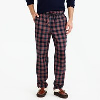 J.Crew Flannel Pajama Pant In Red And Black Tartan