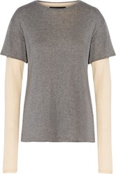 Nlst Layered Cotton And Cashmere Blend T Shirt Anthracite
