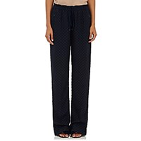Chloe Women's Cloque Track Pants Navy