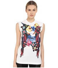 Dsquared Dyed Long Cool Fit Top White Women's Sleeveless