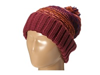 Echo Float Stitch Pom Hat Berry Cold Weather Hats Burgundy