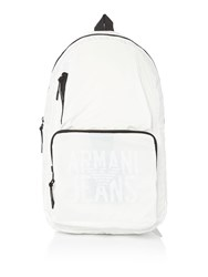 Armani Jeans Ripstop Foldaway Backpack White