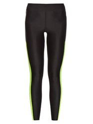 Laain Contrast Panel Performance Leggings Black Multi
