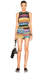 Missoni Mare Sleeveless Romper In Black Metallics Geometric Print Black Metallics Geometric Print