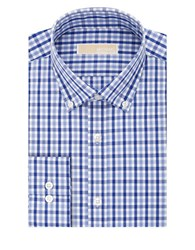 Michael Michael Kors Regular Fit Check Dress Shirt Blue