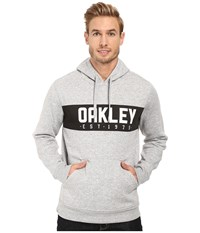 Oakley Hooded Fleece Pullover Granite Heather Men's Sweatshirt Gray