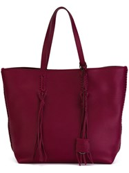 Tod's Shopper Tote Pink And Purple