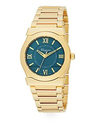 Salvatore Ferragamo Vega Gold Stainless Steel Bracelet Watch Gold Teal