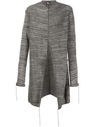 Lost And Found Raw Edge Coat Grey