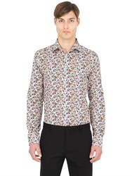 Eton Slim Printed Cotton Italian Collar Shirt