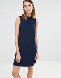 Selected Sleeveless Sweat Dress Dark Navy Melange