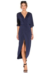 Lovers Friends Cruise Wrap Dress Navy