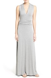 Women's Vince Camuto V Neck Maxi Dress Light Heather Grey