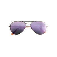 J.Crew Ray Ban Aviator Sunglasses Lilac Mirror