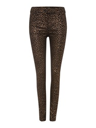 Biba Small Scale Leopard Printed Skinny Jeans Multi Coloured