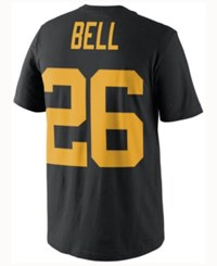 Nike Men's Le'veon Bell Pittsburgh Steelers Color Rush Name And Number T Shirt Black