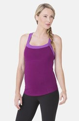 Women's Ingrid And Isabel Racerback Maternity Tank Top Mulberry Orchid