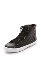 Rebecca Minkoff Sandi Too Quilted Sneakers Black