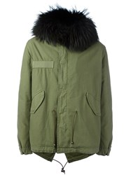Mr And Mrs Italy Fur Trimmed Parka Green